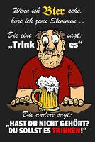 Wenn ich Bier sehe .. Blechschild Schild gewölbt Metal Tin Sign 20 x 30 cm W1178