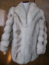 Women's Cream Mid Long Fox Fur Thick Coat Winter The Coat Is Tailor Made Medium