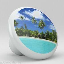 Tropical Beach Ocean Ceramic Knobs Kitchen Drawer Cabinet Vanity Closet Pull 723