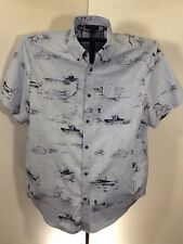 Field And Stream River Blue Outdoor Button Up Fishing Shirt XL
