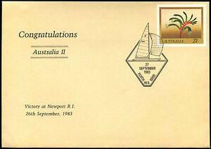Australia 1983 Sailing Yacht Race, Victory Cover #C37504