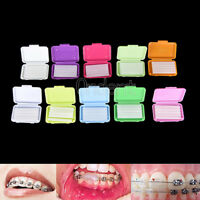 5 Boxes Dental Orthodontic Wax F/ Bracket Brace Gum Irritation 10 Scent All Size