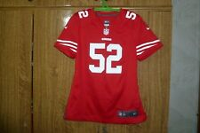 San Francisco 49ers Nike Nfl Jersey #52 Patrick Willis Football Rap Women Size M
