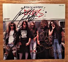 Exodus - Force Of Habit + 2 (Japan CD w/OBI - Autographed by Gary Holt & Steve)