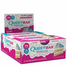 Quest Nutrition QPBBDC12 Birthday Cake Protein Bars (pack of 12 )