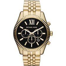 Michael Kors Lexington Quartz Chronograph MK8286 Mens Watch Black and Gold