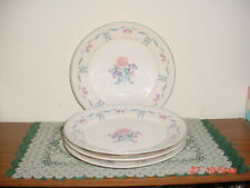 "4-PC NEWCOR ""BLUE RIBBON"" 10 3/4"" DINNER PLATES/BY VICTORIA/#6026/FREE SHIPPING!"