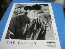 BRAD PAISLEY AUTOGRAPHED PHOTO, COUNTRY MUSIC, EARLY PHOTO