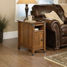 Small Side Table End Narrow Rustic Modern Wooden Decor Living Room Furniture