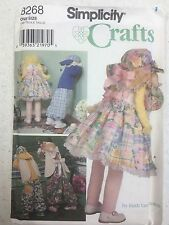 """Simplicity Crafts #8268 30"""" Doll, Bunny, and Clothes"""