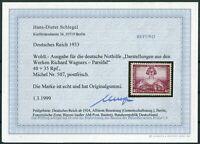 Deutsches Reich DR Nr. 507 A postfrisch Fotobefund BPP Schlegel geprüft 1000 €