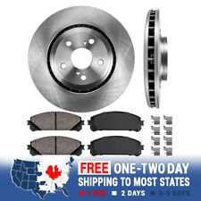 Front 328 mm Brake Rotors And Ceramic Pads For RX350 RX450H Sienna Highlander
