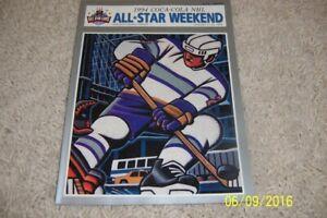 1994 NHL ALL STAR GAME Program Madison Square Garden GRETZKY Lemieux GORDIE HOWE