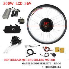 "Hinterrad 28"" LCD E Bike Conversion Kit 36V 500W Ebike Elektrofahrrad Umbausatz"