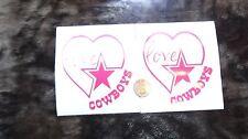 2X 4inch Dallas Cowboys Love Car Decal or for YETI,Rambler,Tumbler