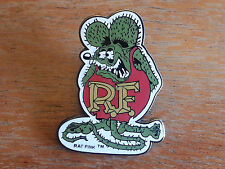 "Large Enamel RAT FINK HAT PIN Srew back LAPEL PIN  ED ""BIG DADDY"" ROTH Hot Rod"