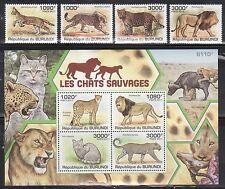 Burundi 842-46 Wild Cats Mint NH