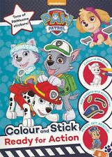 PAW Patrol COLOUR and STICK NEW A4 Book - New Colouring & Sticker Book
