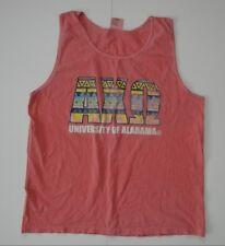 ALABAMA CRIMSON TIDE Greek Frat Football Pink TANK TOP College Shirt Sz LARGE