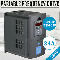 NEW 7.5KW 10HP VFD 220V Single Phase Variable Speed Drive VSD Drive Inverter