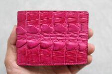 Pink Genuine Alligator ,Crocodile Leather Skin Men's Money Clip Wallet