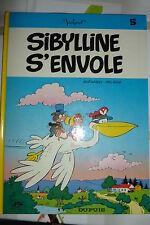BD sibylline n°5 s'envole réédition 1982 TBE macherot deliege