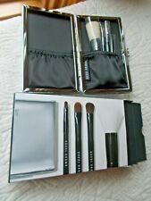 Bobbi Brown Nib Mini Brush Set W/Case 4 Brushes Face Blender Eye Shadow + 2 More