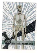 "2017 TOPPS STAR WARS HIGH TEK PATTERN 2 FORM 2 #100 SE-2 ""ESSIE"" WORKER DROID"