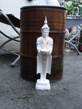 Thai Buddha Stehend Budda Teelichthalter Statue Garten Figur Tempelwächter WG