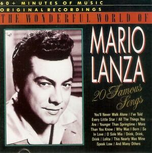 Mario Lanza - The Wonderful World Of Mario Lanza (20 Famous Songs) (CD 1991)