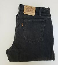 Levi's 550 Relaxed Fit Tapered Leg Jeans BLACK Mens 36x32 (MEASURED 34x32)