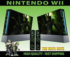 Nintendo Wii pegatina H R Giger Alien Horror Dark Accesorios Skin & 2 Pad Skins