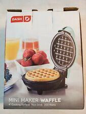 Dash Mini Maker: The Mini Waffle Maker Machine for Individual Waffles, Aqua