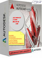 AUTOCAD COLLECTION DWG FILE SOFTWARE  ARCHITECTURE LIBRARY 1200 BLOCK 2D