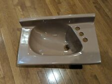 """NEW OLD STOCK 1960's Vintage Eljer Brown Porcelain Bathroom Sink 22"""" x 13"""""""