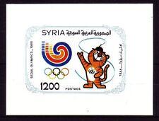Siria Syria 1988 ** bl.70 juegos olímpicos Olympic Games mascota Mascot