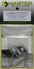 Master 1/350 IJN 36cm/45 (14in) Vickers and 41st Year Types Gun Barrels (8pcs) #