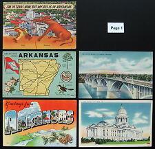 1930's 1940's 1950's Postcard Lot, 14 Postcards ~ ARKANSAS ~ Free Shipping