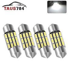 4x 31mm DE3022 Festoon LED Trunk License Plate Interior Light Bulb 6000K White