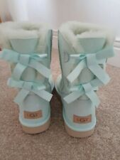 NEW Genuine UGG bailey bow II boots mint green bought in USA UK7.5 EU40 Uggs