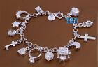 Bracciale braccialetto,argento 925 Sterling Silver,da donna pendant e zircone