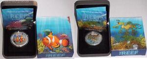 Sparpaket 1/2 Oz Silber Sea Dragon und 1/2 Oz Silber Clownfish