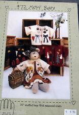 "Merry Beary Heart to Hand teddy bear pattern wardrobe giant 30"" stuffed animal"