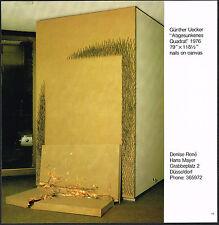 1978 Vintage Gunther Uecker Abgesunkenes Quadrat Art Denise Rene Photo Print AD