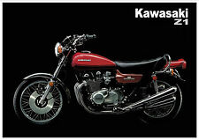 KAWASAKI Poster Z1 1972 1973 Suitable To Frame