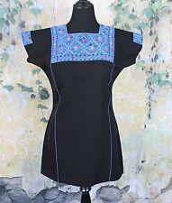 Mayan Little Black Dress Huipil Chiapas Mexico Hand Woven Santa Fe Boho Cowgirl