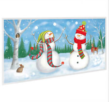 SNOWMEN JUGGLING Scene Setter Christmas holiday winter party 5' decor Frosty