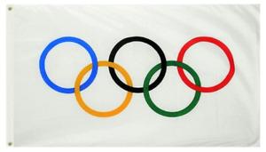 Olympic Games 3x5 Feet Flag Olympic Rings International Banner Printed Flag