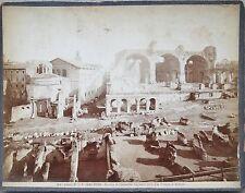 ANTIQUE ROME ITALY BASILICA OF CONSTANTINE TEMPLE ROMULUS ALBUMEN CABINET PHOTO