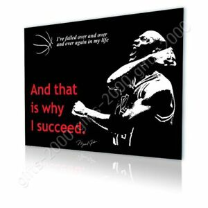 Michael Jordan #5 Quote Winning by Alonline DSN | Canvas (Rolled) | Wall art